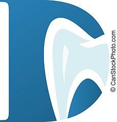 d, dental, brev, logo, medicinsk, design.