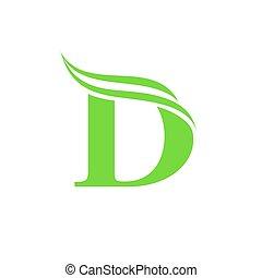 d, dynamique, conception, lettre, logo, logo., template.