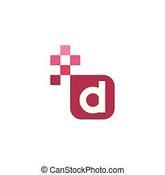 D Font Vector Template Design