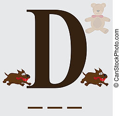 D for dog vector