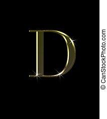 d, gold., lettera