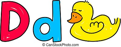 D is for duck - learning the alphabet - toddler art series