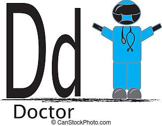 d, läkare