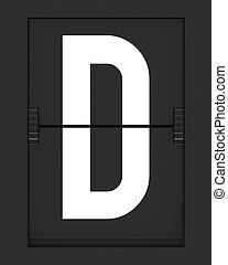 D Letter from mechanical timetable board