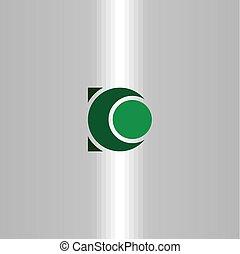 d letter logo green sign vector design symbol