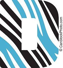 D letter logo vector design.