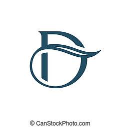 d, lettre, signe