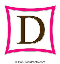 D Monogram Pink & Brown