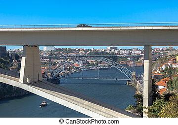 d., navegación, infante, bancos, puentes, barcos, luis, río,...