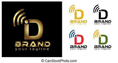 D online logo template, stock logo template.