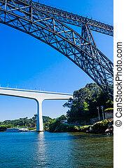 d., puentes, hecho, viejo, porto, puente, muchos, moderno,...