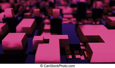 d rendering isometric structure with blur. The concept of ...