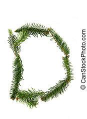 D - symbol from christmas alphabet