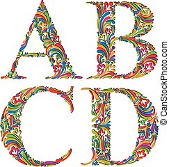 d., vendange, c, b, lettres