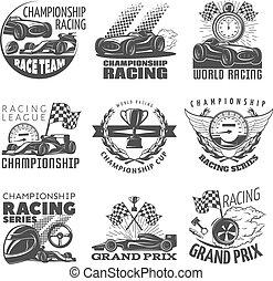 da corsa, set, emblema