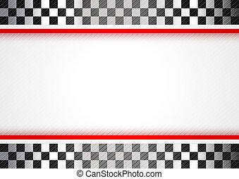 da corsa, sfondo rosso