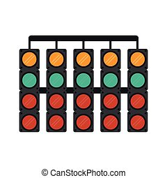da corsa, simbolo, semafori