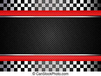 da corsa, strisce, sfondo nero