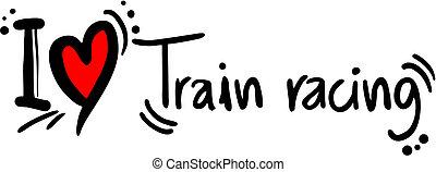 da corsa, treno, amore
