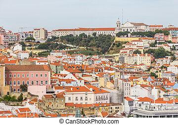 Da graca church and convent and Cityview of Lisboa, Lisboa, ...