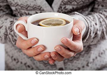 da sostener una taza, de, té
