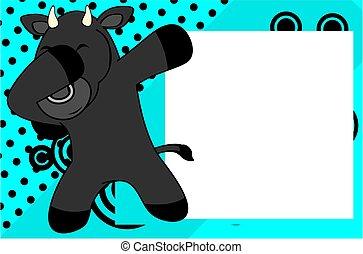 dab bull cartoon background