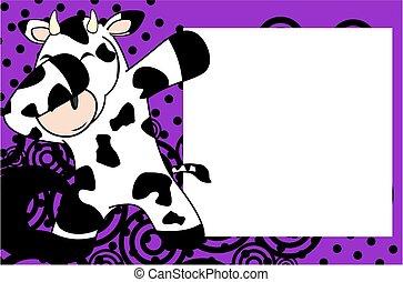 dab cow cartoon background - dab animal cartoon background...