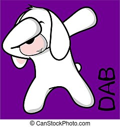 dab dabbing pose bunny kid cartoon - dab dabbing pose animal...