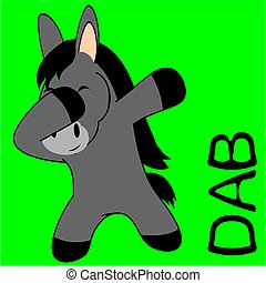 dab dabbing pose donkey kid cartoon - dab dabbing pose...