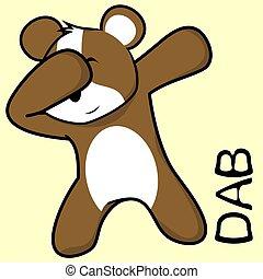dab dabbing pose hamster kid cartoon in vector format very...
