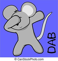 dab dabbing pose mouse kid cartoon - dab dabbing pose animal...