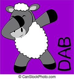 dab dabbing pose sheep kid cartoon - dab dabbing pose animal...