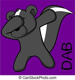 dab dabbing pose skunk kid cartoon