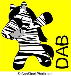 dab dabbing pose zebra kid cartoon - dab dabbing pose animal...