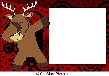 dab deer cartoon background - dab animal cartoon background...