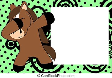 dab horse cartoon background - dab animal cartoon background...