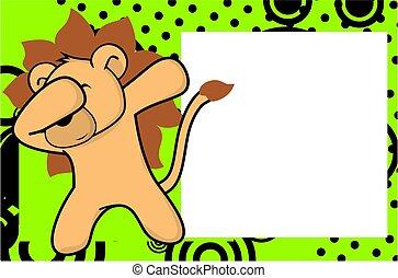 dab lion cartoon background - dab animal cartoon background...