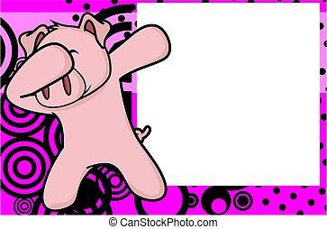 dab pig cartoon background - dab animal cartoon background...