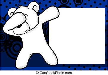 dab polar bear cartoon background - dab animal cartoon...