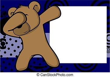 dab teddy bear cartoon background - dab animal cartoon...