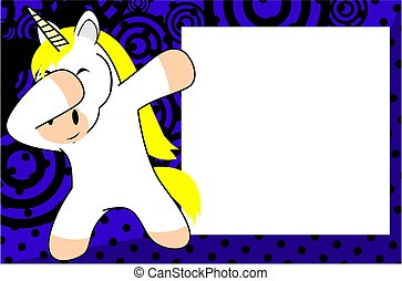 dab unicorn cartoon background - dab animal cartoon...