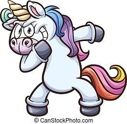 dabbing, unicornio