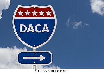 daca, interestatal, estados unidos de américa, señal de ...