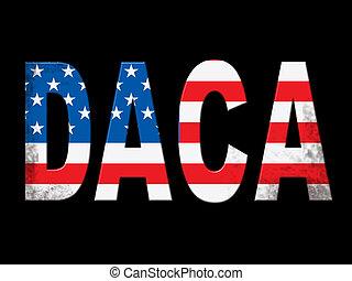 Daca Kids Dreamer Legislation Flag For Us Immigration. Passport For Immigrant Children In The United States - 2d Illustration