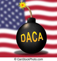 Daca Kids Dreamer Legislation For Us Immigration. Passport For Immigrant Children In The United States - 3d Illustration