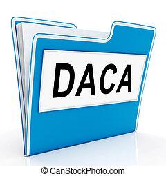 Daca Kids Dreamer Legislation Plan For Us Immigration. Passport For Immigrant Children In The United States - 3d Illustration