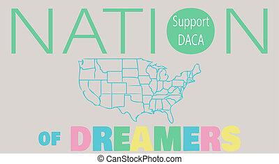 DACA Support Sign Vector Illustration