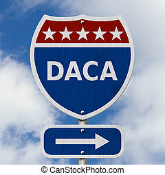 DACA USA Interstate highway sign