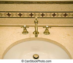 dachówka, kielich, łazienka, szczegół