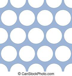 dachówka, wektor, próbka, z, biały, wielokropek polki, na, błękitne tło